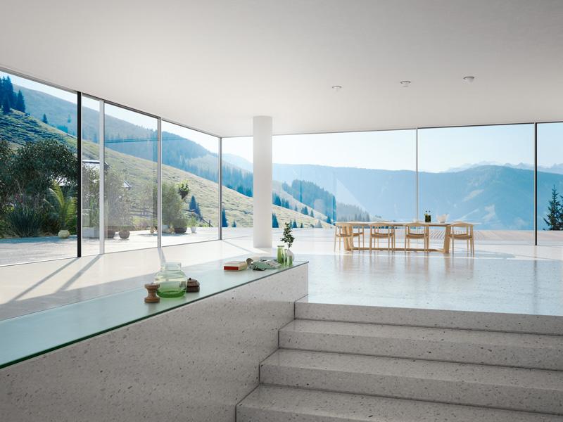 Ganzglasecke Wohnraum